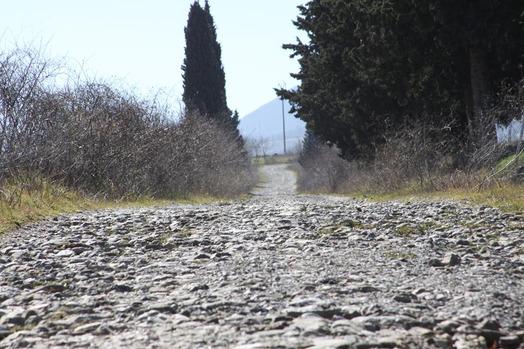 Foto: Briccole, un tratto di strada selciata