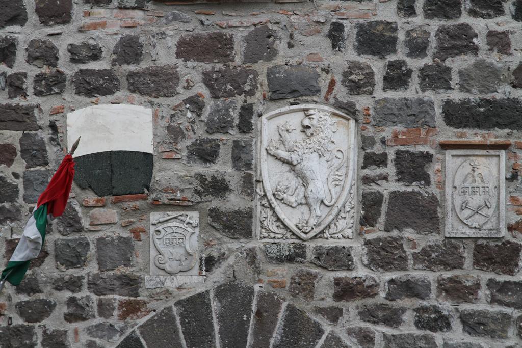 Foto: Radicofani, il Palazzo pretorio, particolare della facciata